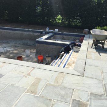 Step 8 - Gunite pool construction
