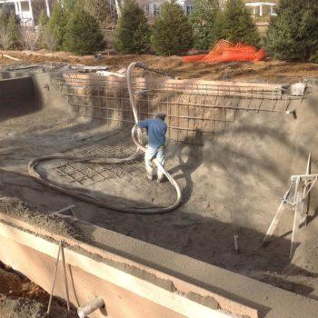 Step 7 - Gunite pool construction