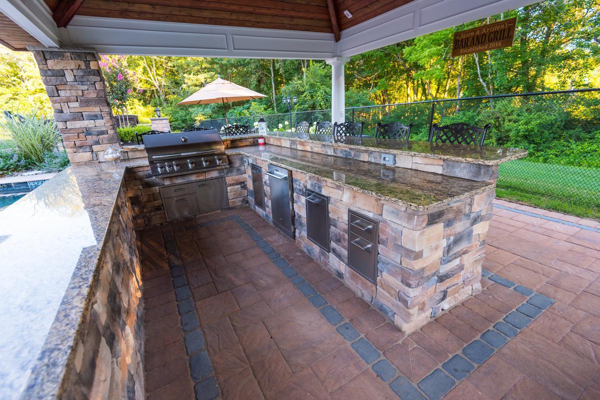 outdoor kitchen and bar designs. Outdoor Kitchen  Bar Installations Builders Elite Landscapes