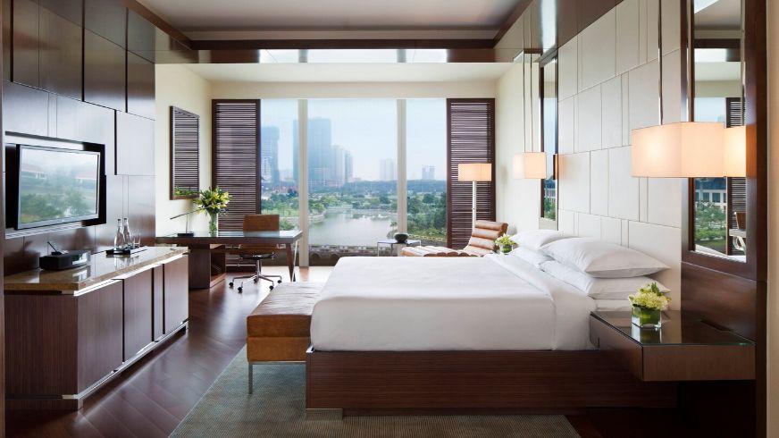 jw marriott vietnam hotel room interior brown