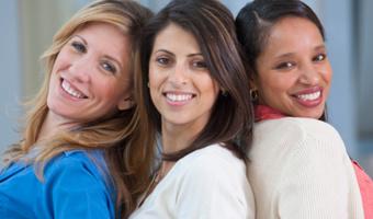 Women smiling huntstock