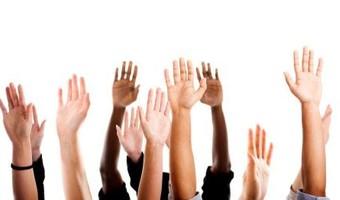 Diversity raised hands