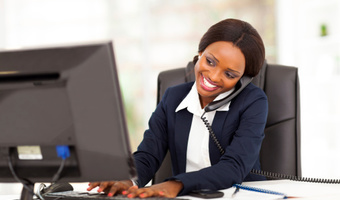 Woman working happily thinkstock