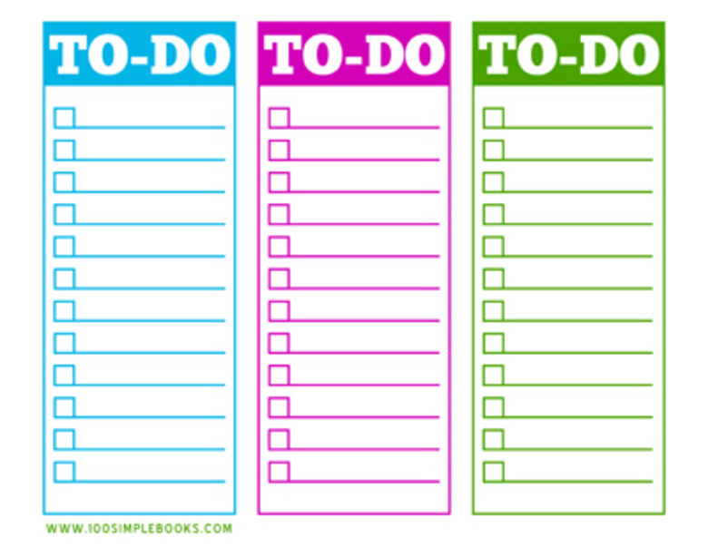 what to do list