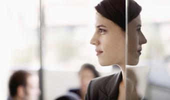 Profile of woman in mirror thinkstockphotos