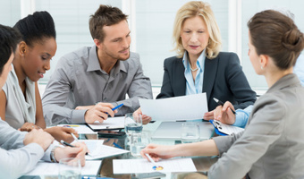 Colleagues in meeting thinkstockphotos