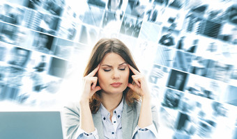 Businesswoman thinking concentrating canstockphoto