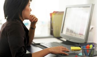 Woman at computer 7