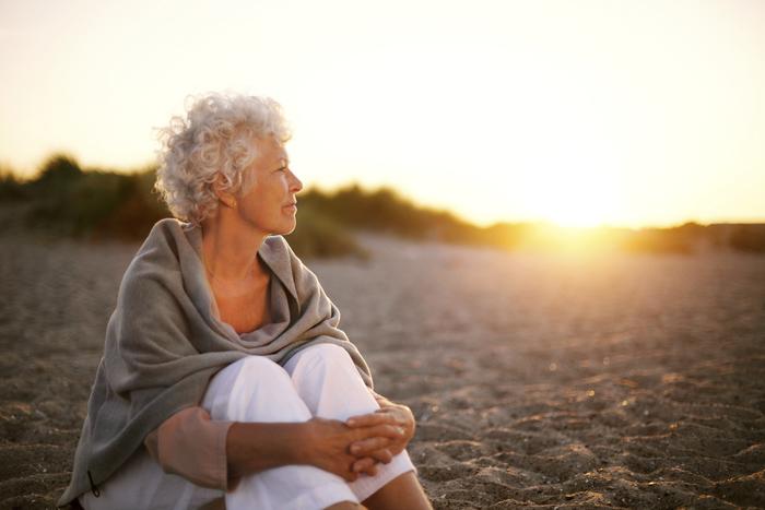 Mature woman appreciating nature