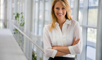 Businesswoman smiling professional thinkstock
