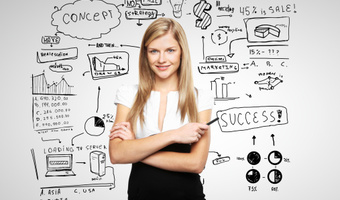 Woman with business plan thinkstock