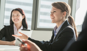 Businesswomen meeting thinkstock