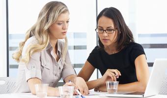 Businesswomen colleagues meeting thinkstock