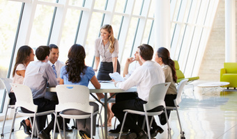 Woman leading meeting thinkstock
