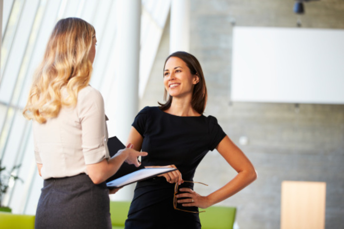 Two businesswoman meeting thinkstock