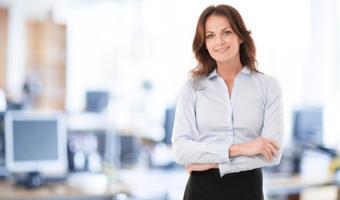 Modern businesswoman in office thinkstock