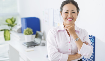 Business lady in office