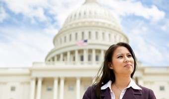 Woman at capitol