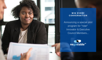 Win every conversation through our new partnership with negotiable
