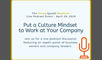 The doing %28good%29 business live podcast event april 29 2019