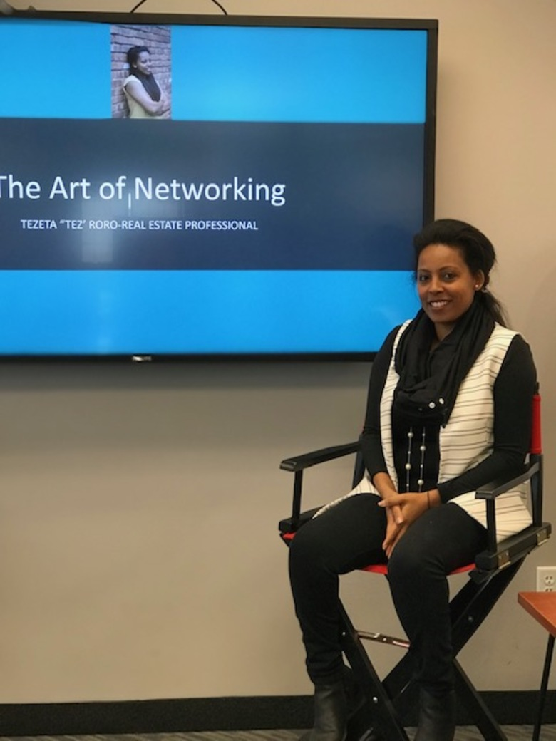Tez Roro led a workshop on The Art of Networking
