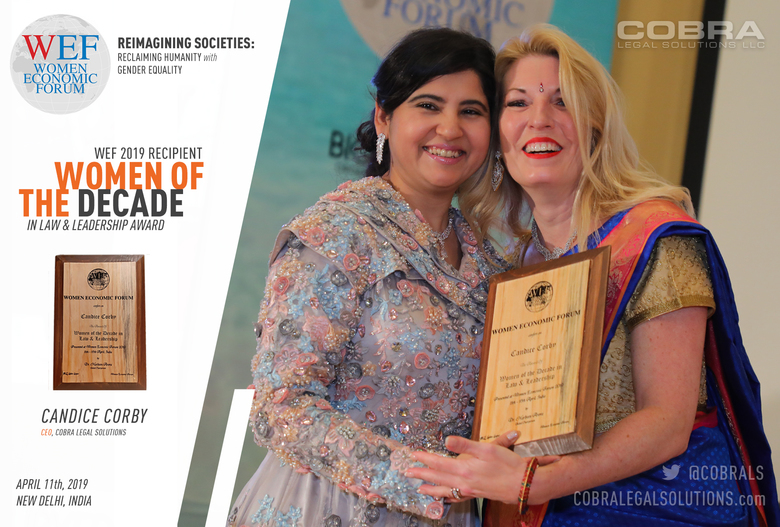 """Candice Corby Wins Women Economic Forum's """"Women of the Decade in Law and Leadership"""" Award"""