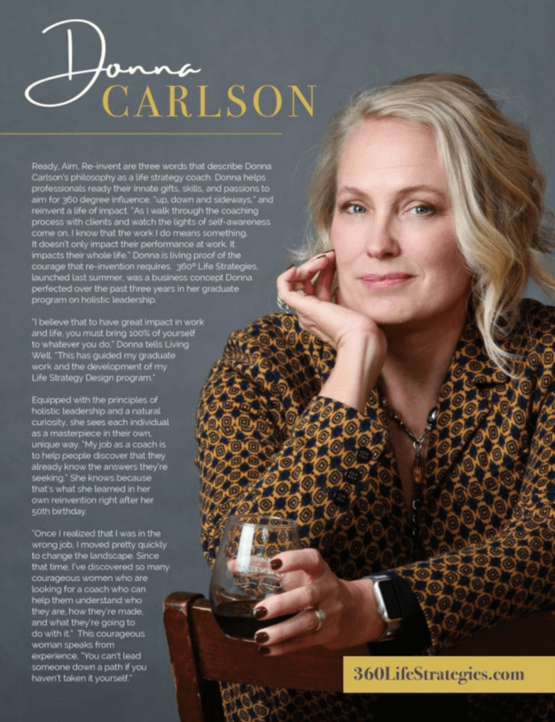 Donna Carlson Featured in Colorado Living Well Magazine's Women Who Inspire Issue