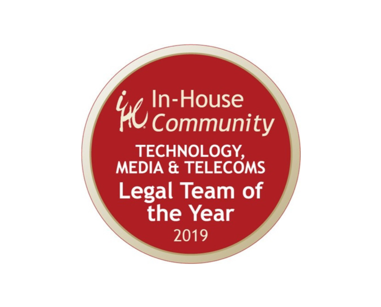 In-House Team of the Year 2019 | Middle East: Technology, Media & Telecoms — by In-House Community Awards ASIA-MENA