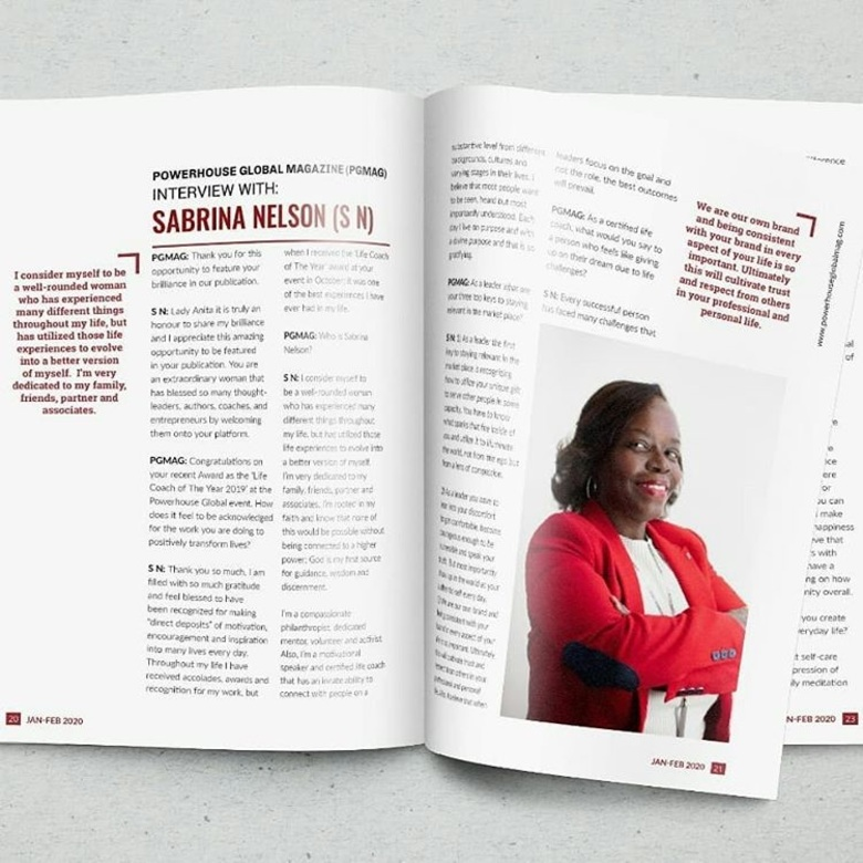 Sabrina Nelson Featured in Global Magazine's Edition for Global Leaders Making a Difference