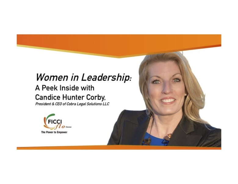 Candice Hunter Corby Addresses Female Global Leaders in Chennai, India, at FICCI FLO Luncheon