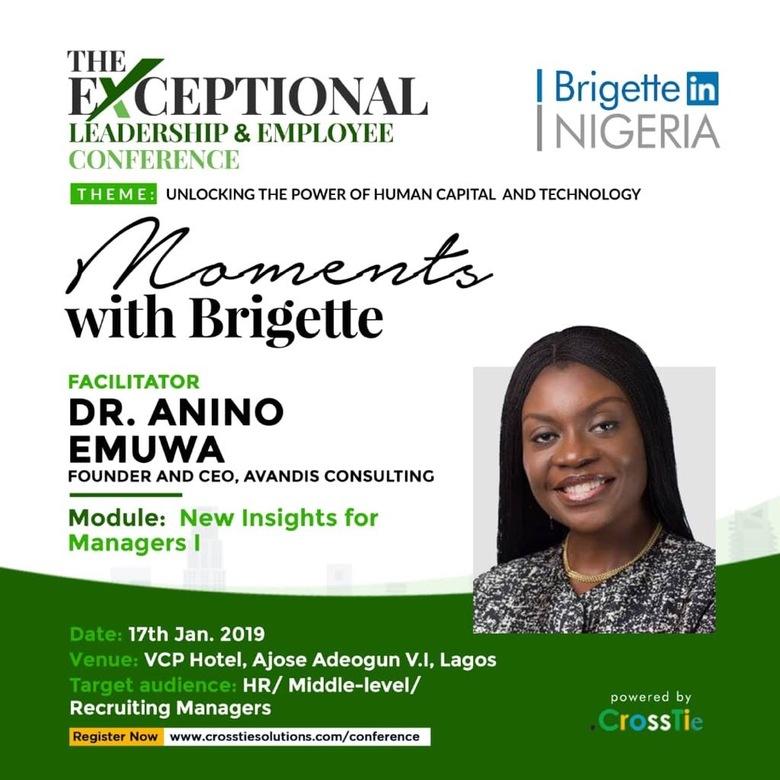 Dr Anino Emuwa Leads Workshop for Managers Alongside Brigette Hyacinth