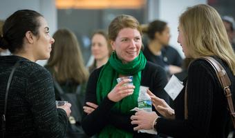 Women networking water