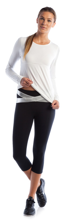 Never Give Up Long Sleeve and Shine Like a Star Crop Capri