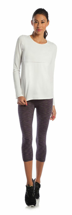 Never Give Up Long Sleeve  and Balance Capri