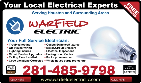 Exclusive Ad: Warfield Electric  2814859798 Logo