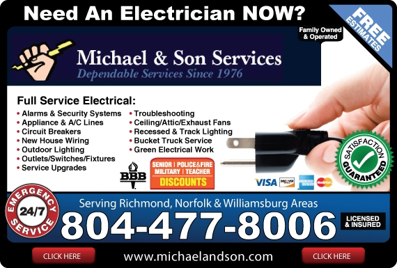 Exclusive Ad: Michael and Son Services  8044778006 Logo