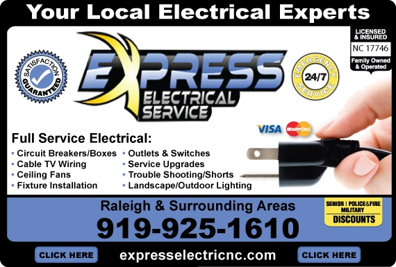 Exclusive Ad: Express Electrical Service  9199251610 Logo