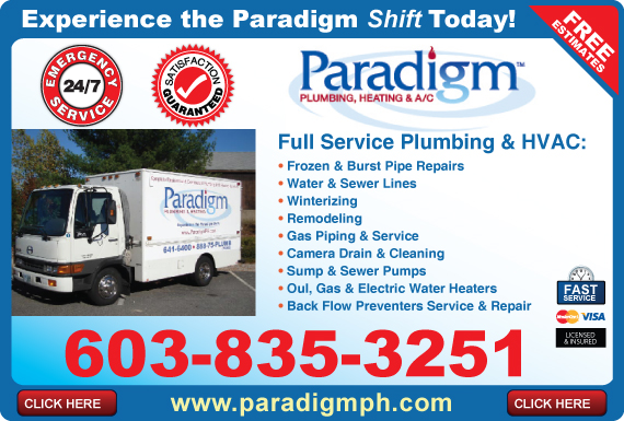 Exclusive Ad: Paradigm Plumbing, Heating, And Air Conditioning, Inc  6038353251 Logo