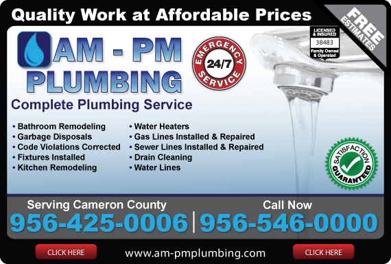 Exclusive Ad: AM-PM Plumbing  9564250006 Logo