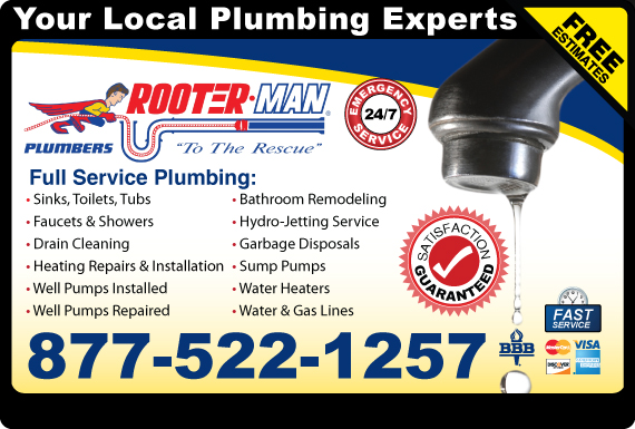 Exclusive Ad: Rooterman Plumbing  8775221257 Logo