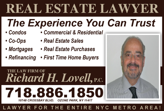 Exclusive Ad: Richard H Lovell Ozone Park 7188861850 Logo