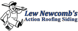 Lew Newcomb's Action Roofing Siding Logo
