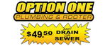 Option One Plumbing And Rooter - CA Logo