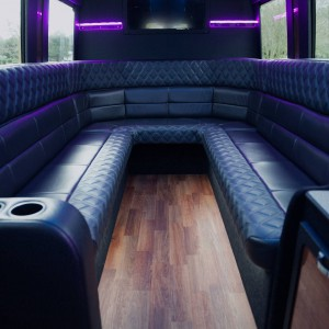 Interior of Executive Limo Services' Mercedes Van