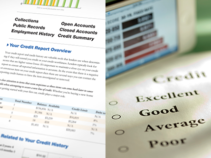Credit report side by side