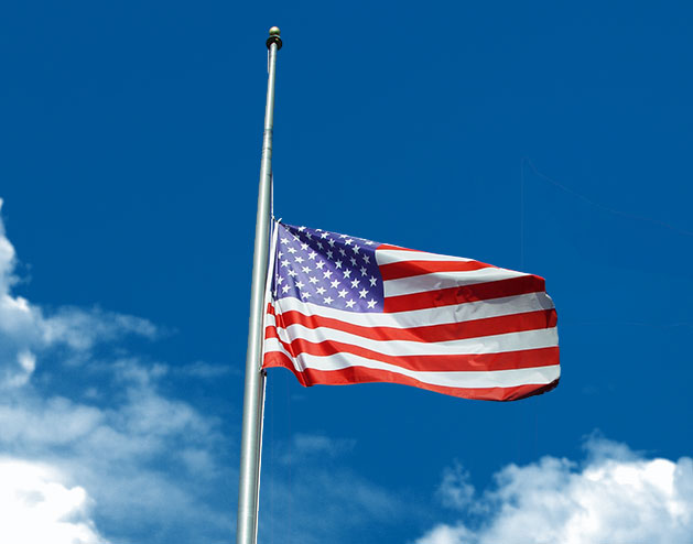 Lowering of United States Flags