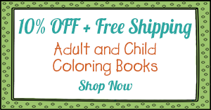 10% off plus free shipping on select coloring books