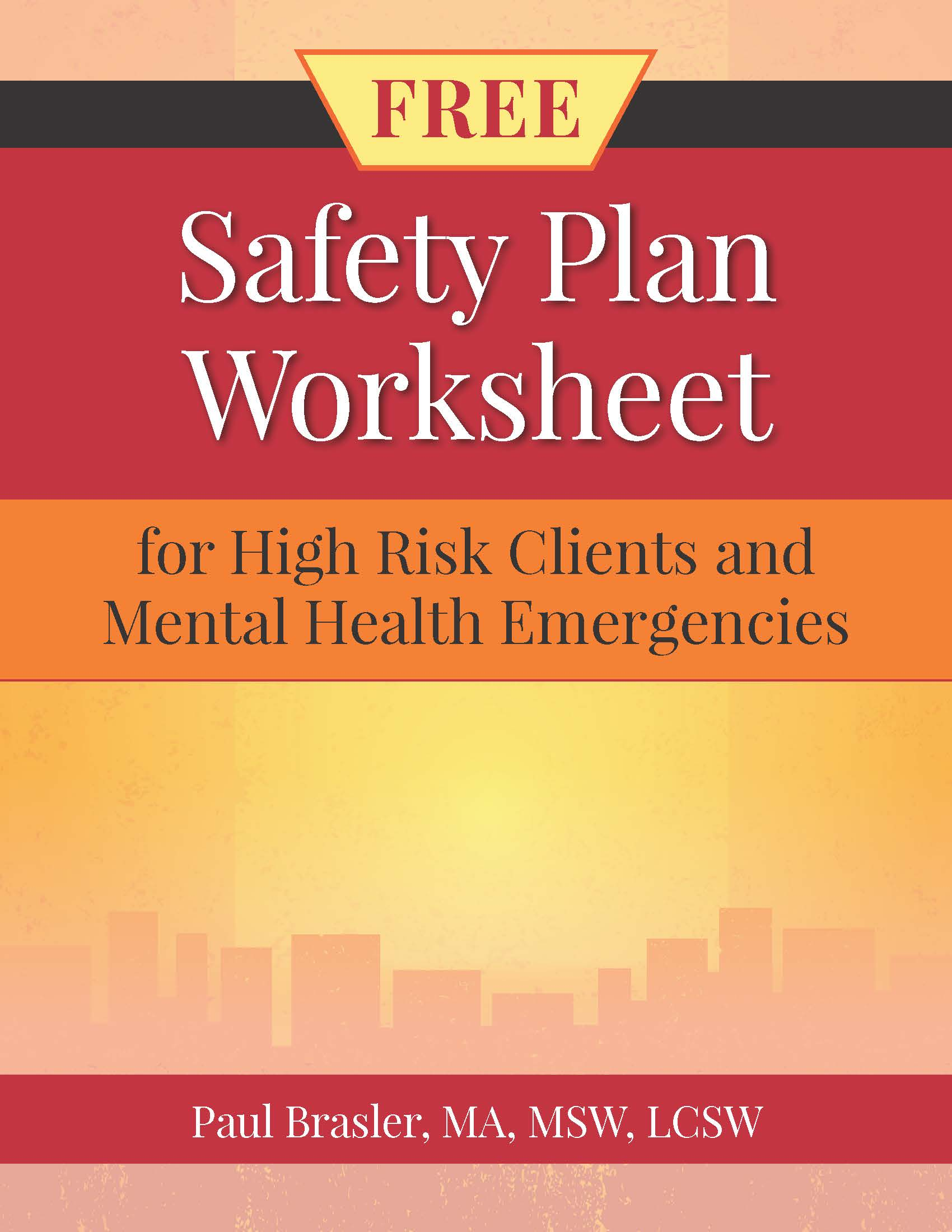 Safety Plan Worksheet Cover
