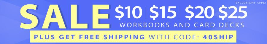 SALE: Workbooks and Card Decks