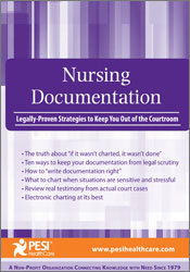 Image of Nursing Documentation: Legally-Proven Strategies to Keep You Out of th